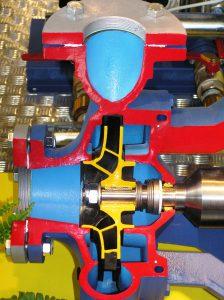 Egylépcsős centrifugál szivattyú. (forrás: www.aquarex.hu)